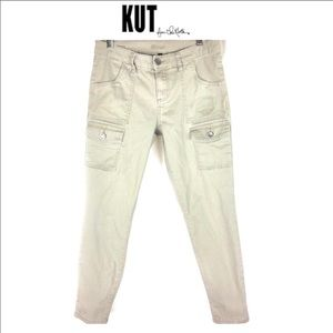 Kut from the kloth cargo style skinny pants size 8